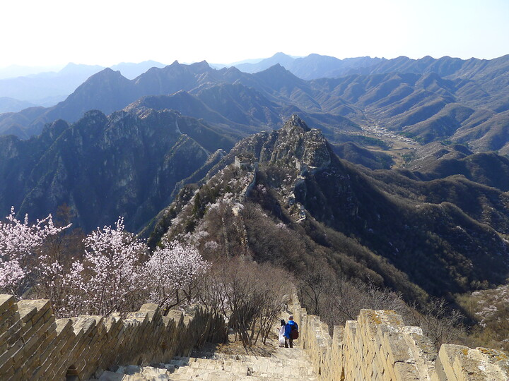 Jiankou Great Wall to Beigou Village sundown hike, 2021/04/04 photo #4