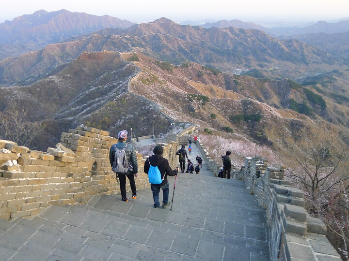 Jiankou Great Wall to Beigou Village sundown hike, 2021/04/04 photo #28