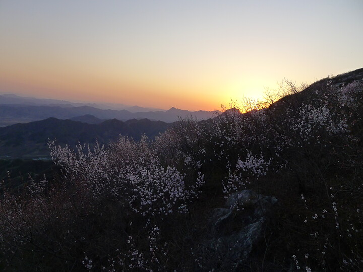 Jiankou Great Wall to Beigou Village sundown hike, 2021/04/04 photo #29