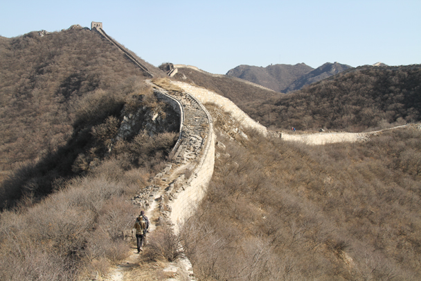 Hiking up to the camp site - Switchback Great Wall Camping, 2016/03/26