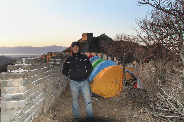 Tents are all set up, time to relax - Switchback Great Wall Camping, 2016/03/26