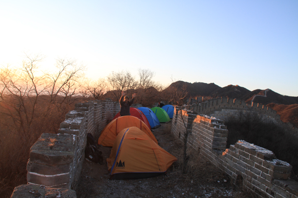 Time to wake up! - Switchback Great Wall Camping, 2016/03/26