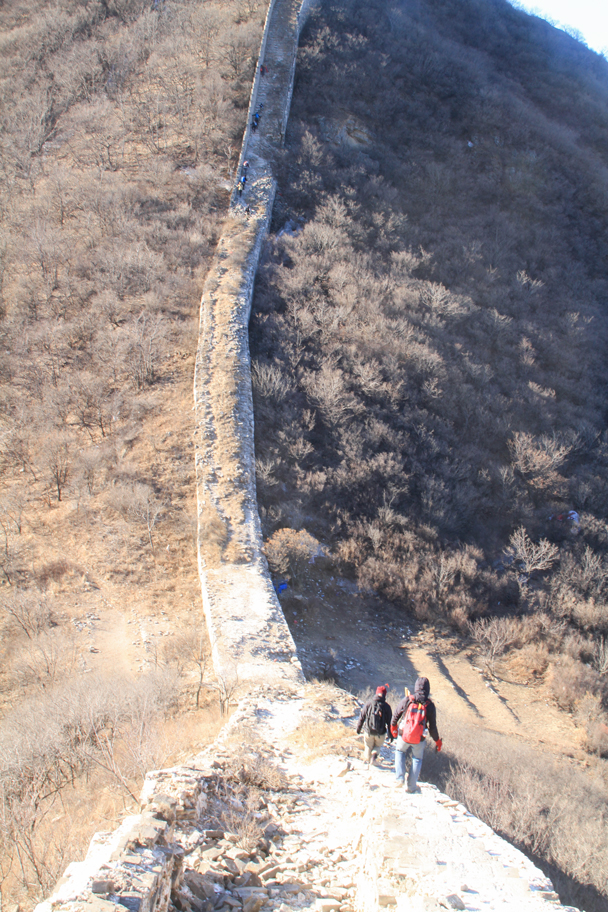 Coming up to a steep section - Switchback Great Wall Camping, 2016/03/26