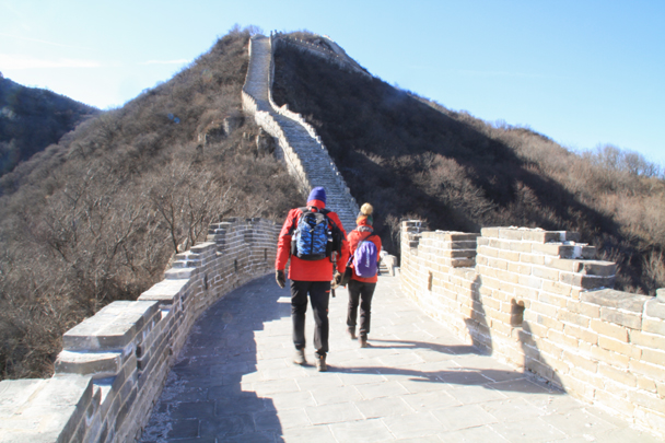 The hike took us up on to a recently repaired section - Switchback Great Wall Camping, 2016/03/26