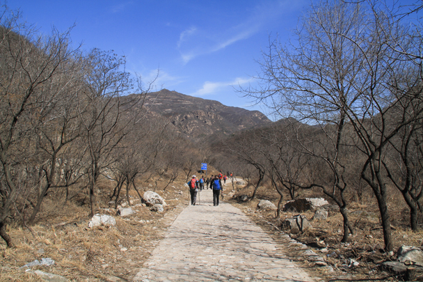 We hiked out to a little village - Switchback Great Wall Camping, 2016/03/26