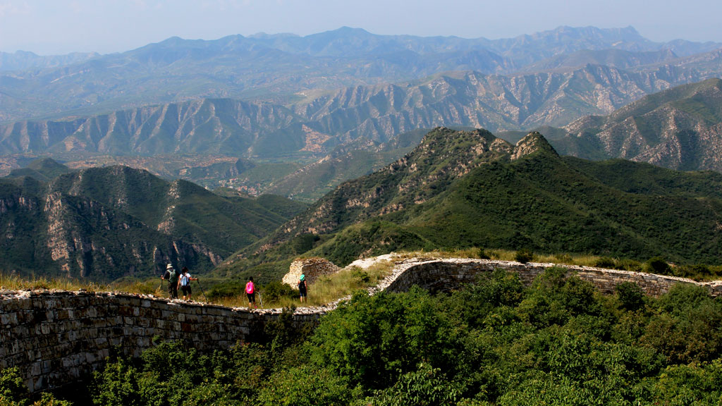 Big Camp Plate Great Wall | Views of mountains from the Great Wall at Big Camp Plate