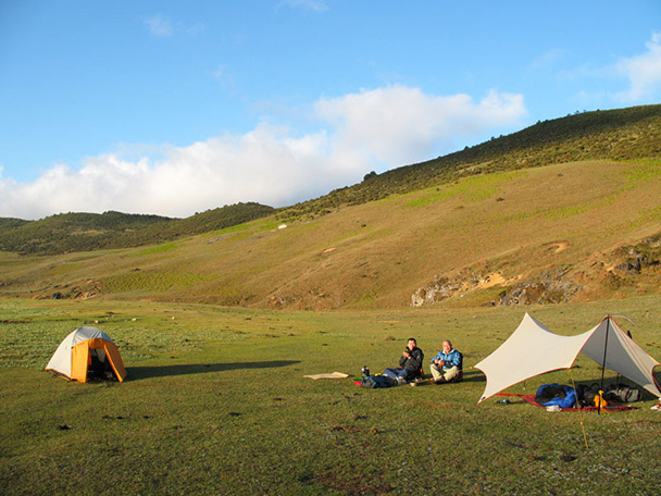 Camping in the Cang Mountains, Yunnan