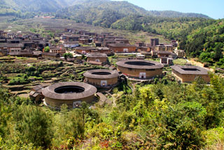 The Chuxi tulou cluster
