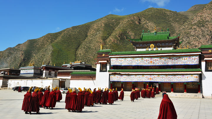 The assembly hall of Labrang Monastery
