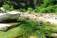 Swimming at Yunmeng Gorge