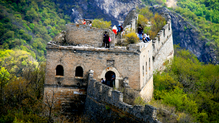 A tower on the 'spur' section of the Great Wall Spur