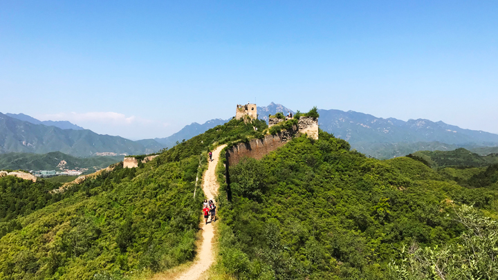 Looking towards the General's Tower on the Gubeikou Great Wall.