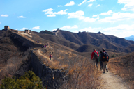 Hiking up to the towers on the extended section of the Gubeikou Great Wall