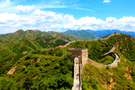 Approaching the Jinshanling Great Wall