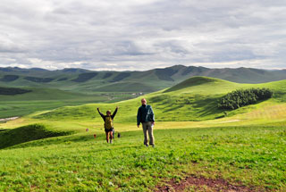 In the rolling hills of the Bashang Grasslands
