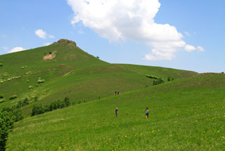Hiking the hills of the Bashang Grasslands