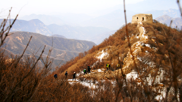 Great Wall in the mountains below the High Tower