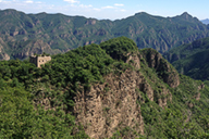 A Great Wall tower on a bluff