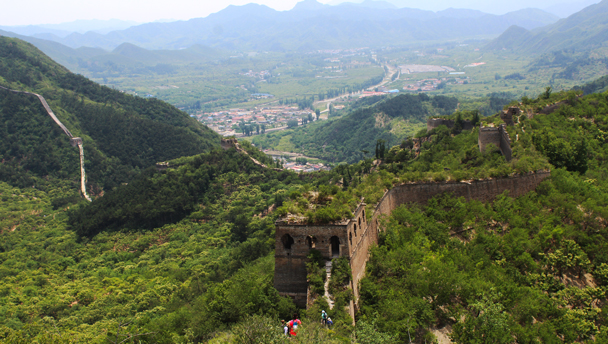 Huanghuacheng Great Wall | An unrepaired section of the Great Wall at Huanghuacheng