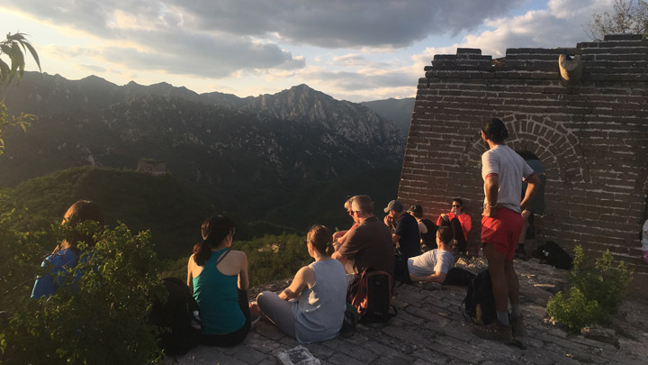 See sunset from the Great Wall at Huanghuacheng