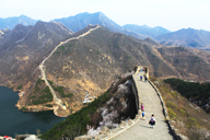 Hiking on the repaired end of the Huanghuacheng Great Wall