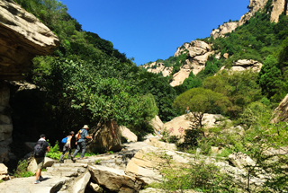 Hikers on the way up the Immortal Valley park trails