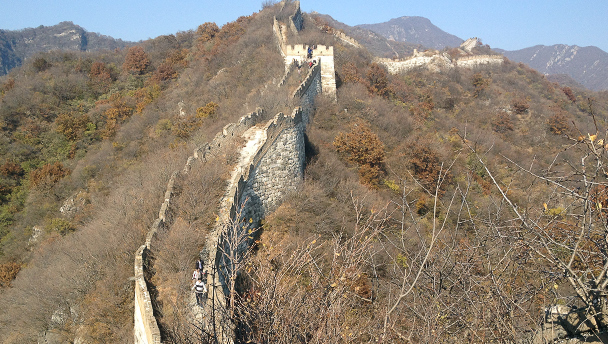 A rough section of the Great Wall at Jiankou