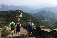 Hiking down to the Mutianyu Great Wall