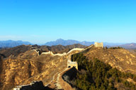 A view of the towers on the Jinshanling Great Wall, Luanping, Hebei