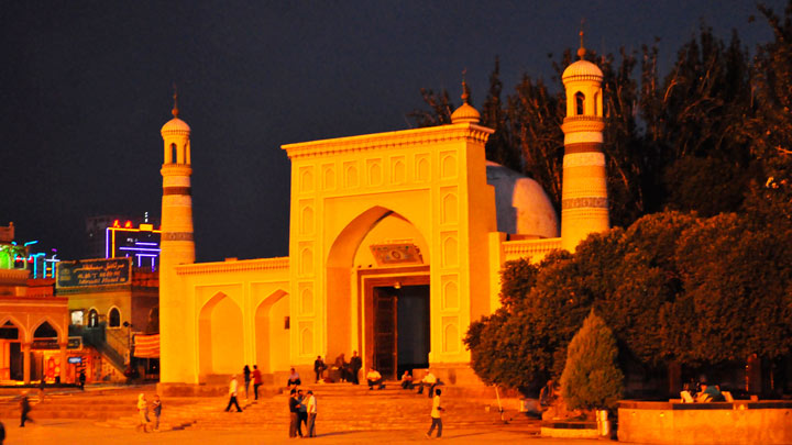 The Id Kah mosque, in Kashgar