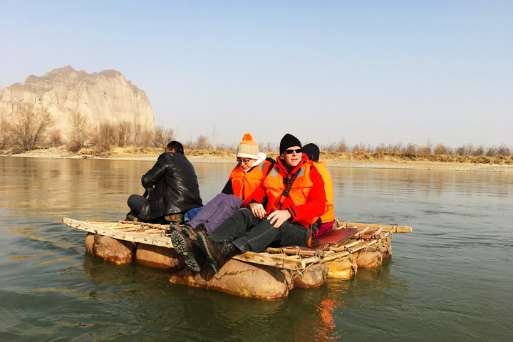 Floating across the Yellow River