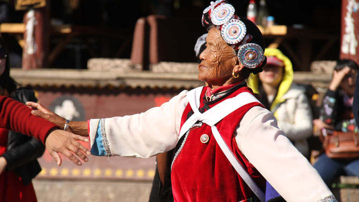Dancers in Lijiang's town square