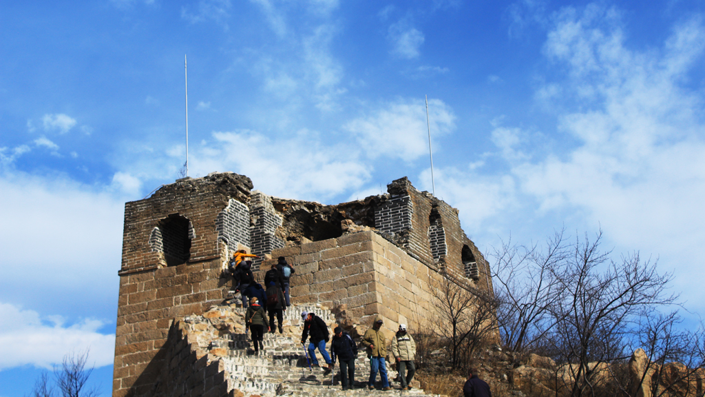 Longquanyu Great Wall | A partially repaired tower on the Great Wall at Longquanyu