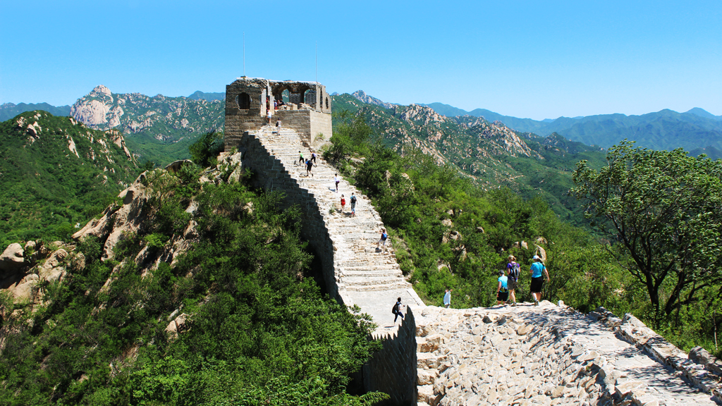 Longquanyu Great Wall | A view of a tower on the Longquanyu stretch of Great Wall