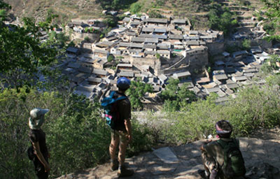 A view of the stone houses of Cuandixia, Mentougou District