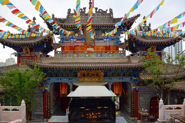 A hall at Kumbum Monastery