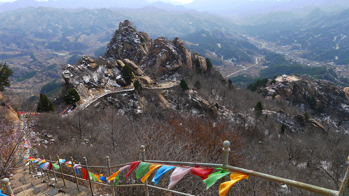 Views from the mountain behind the Silver Pagodas