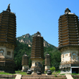 Three of the pagodas at the Silver Mountain Pagodas