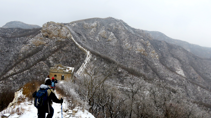 Snow on the Great Wall at Stone Valley