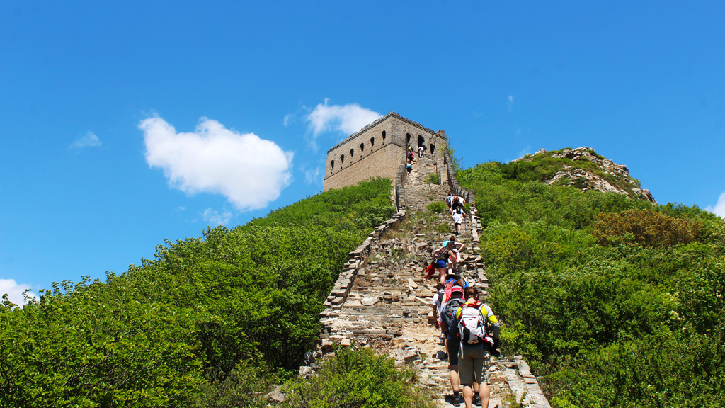 Stone Valley Great Wall | Climbing up to the General's Tower
