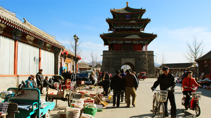 The tower in Yongning Town