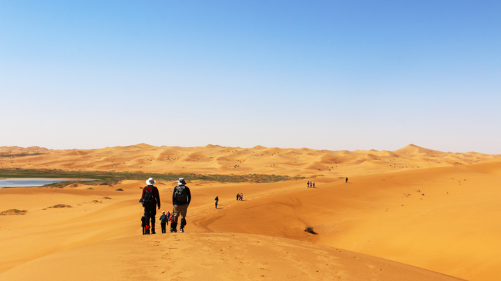 Dunes as far as the eye can see, in the Tengger Desert