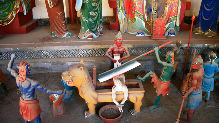 Part of the diorama representing Taoist hell
