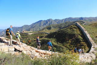 Long views of Great Wall in the Yanqing mountains