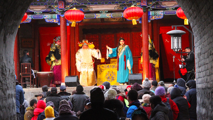 A performance of Chinese opera in Nuanquanzhen