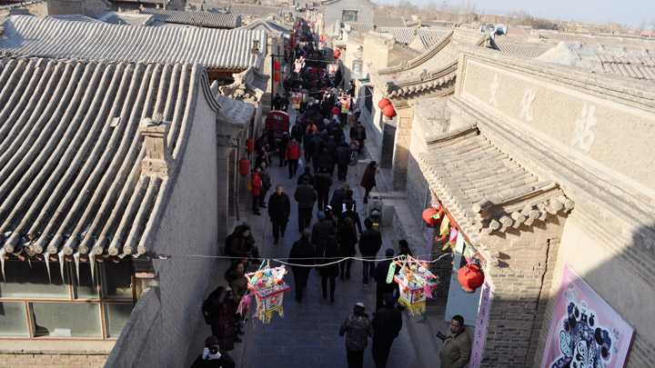 A narrow lane in Nuanquanzhen