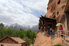 Zhangye Horse Hoof Temple and Caves, Gansu Province