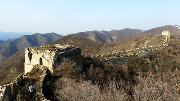 A tower on the Great Wall at Zhenbiancheng