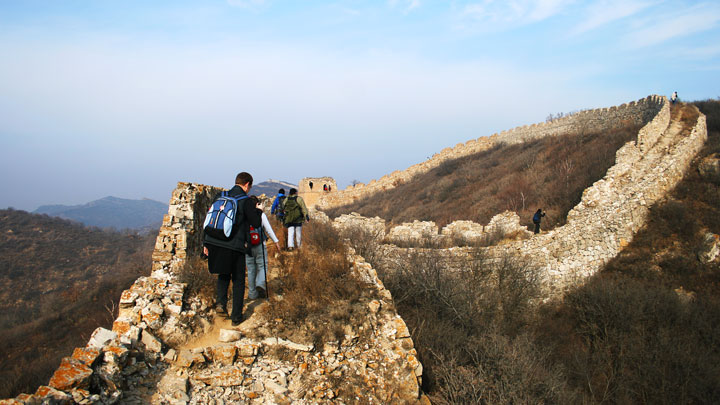 High up on the Great Wall at Zhenbiancheng