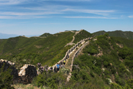 The Great Wall crossing hills and mountains in Huailai District